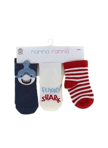 Mammaramma Mammaramma 2532 Çok Renkli Baskılı Erkek Bebek Spor Çorap Renkli